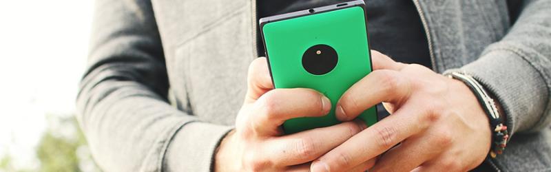 Networking smartphone in hand