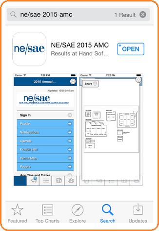 NESAE branded app in App Store