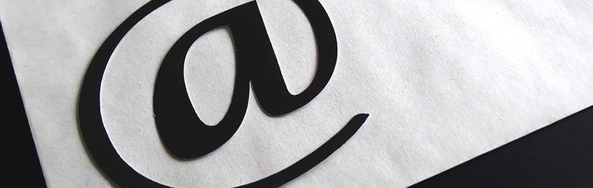 Email marketing symbol