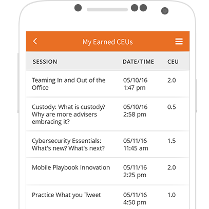 Earned CEU credits for attendees in mobile educational app