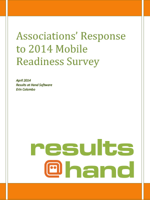 Associations' Response To 2014 Mobile Readiness Survey