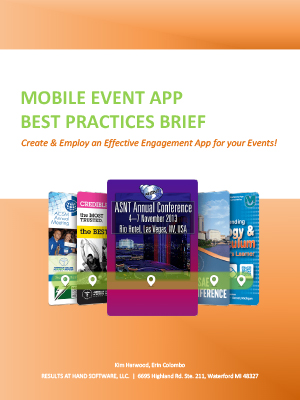 Mobile Event App Best Practices Brief