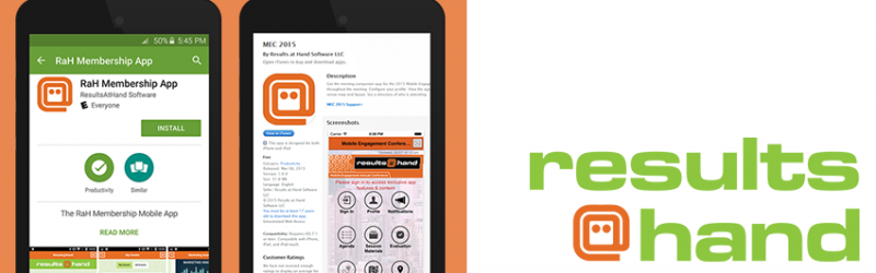 Results at Hand membership app demo in app stores