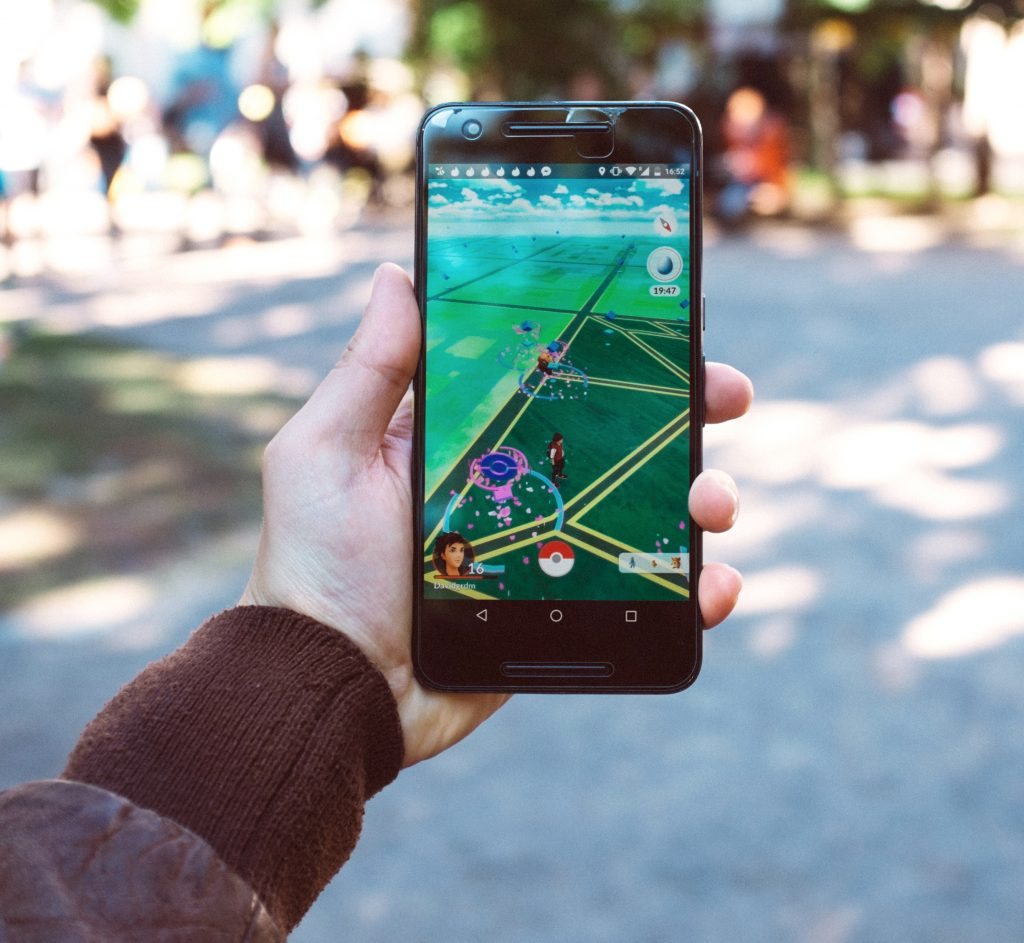 Pokemon Go on Android smartphone