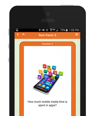 Mobile app flashcard educational features
