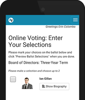 Online voting with our event management software